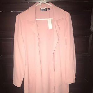 NY&Co pink duster cardigan